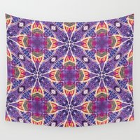 batik Wall Tapestries featuring Batik Medallion by JoAnna Seiter