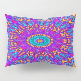 Happy Colors Explosion Psychedelic Mandala Pillow Sham
