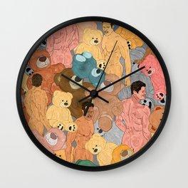 Teddy Bear Butts Wall Clock