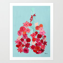 Simply Breathe - Lungs For Whitney Art Print