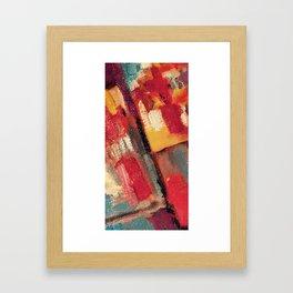Maroon Colorfield Framed Art Print