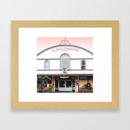 Aloha Theater Framed Art Print