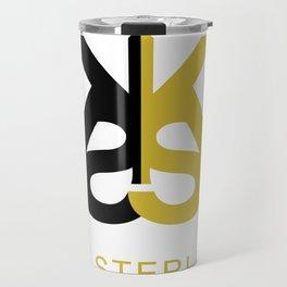 Kia Sterling Black/Gold Travel Mug