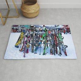 Ski Party - Skis and Poles Rug