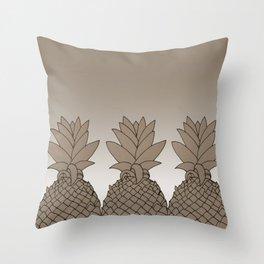 Bland Pineapple Throw Pillow
