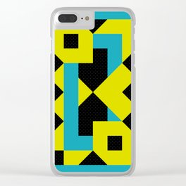 There is a Green Geometric Heart Somewhere, and some other Things Clear iPhone Case