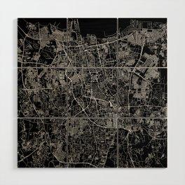 Jakarta Black Map Wood Wall Art