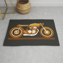 The Cafe Racer Motorcycle Rug