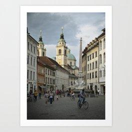 Ljubljana Art Print