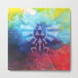 The Legend Of Zelda Triforce Rainbow Color Metal Print