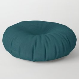 color trend petrol dark blue plain Floor Pillow