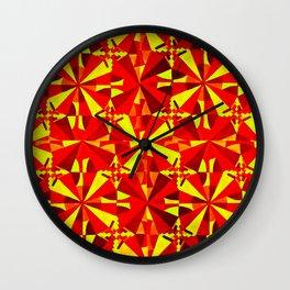 Orange and Yellow Wall Clock