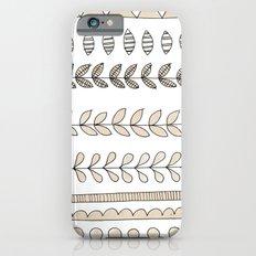 Pastel Patterns - Natural iPhone 6s Slim Case