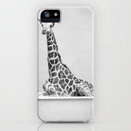 Giraffe In A Bath iPhone Case
