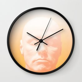 Thoughts orange Wall Clock