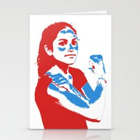 feminism Stationery Cards featuring Feminism by DebbieHughes