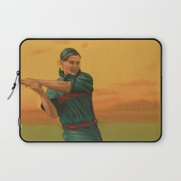 Vintage Backyard Baseball Player - Bescher - Cincinnati Laptop Sleeve