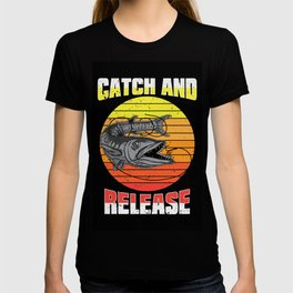 Catch and Release large Fish T-shirt