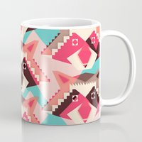 yetiland Mugs featuring Raccoons and hearts by Yetiland