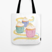sprinkles Tote Bags featuring Sprinkles by Hayley Bowerman Design