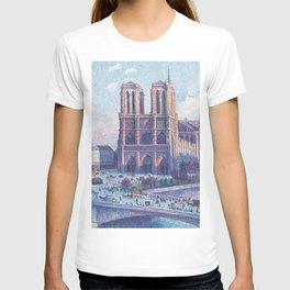 Notre Dame, Paris, France Masterpiece by Maximilian Luce T-shirt