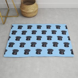 Walter the Black Labrador Dog Pattern Rug