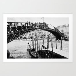 Venice, Italy, Film Photo, Analog, Black and White Art Print