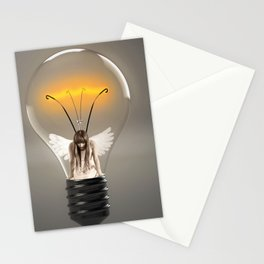 Fairy Stuck in a Lightbulb Stationery Cards