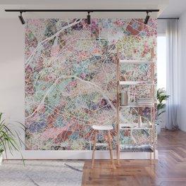 Paris map Wall Mural