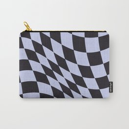 Warped Check Black Carry-All Pouch