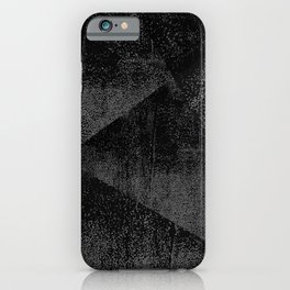 Black and Dark Gray Geometric Ink Texture iPhone Case