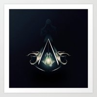 assassins creed Art Prints featuring Assassins Creed by albert Junior