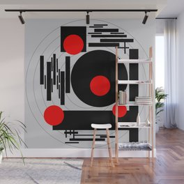 Optical Red Wall Mural