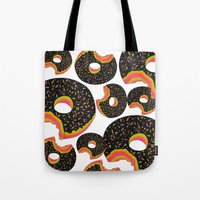donut Tote Bags featuring Donut by Luna Portnoi