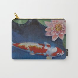 Koi and Water Lily Carry-All Pouch