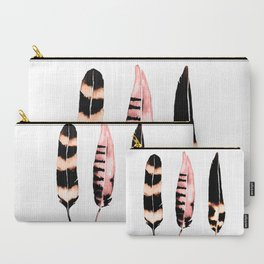 Feathers of Rose Gold Carry-All Pouch