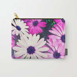 251 - Pink and White Flowers Carry-All Pouch