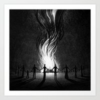 witch Art Prints featuring Witch by Brian Luong