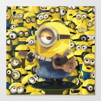 minions Canvas Prints featuring MINIONS by DisPrints