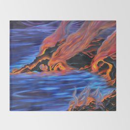 The Dance of Pele & Kanaloa Throw Blanket