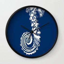 coral life sea water blue fish star Wall Clock