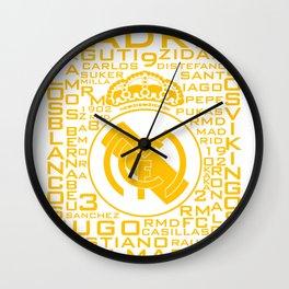 MixWords: R.Madrid Wall Clock