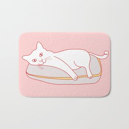 Home Sweet Home With Cat Bath Mat