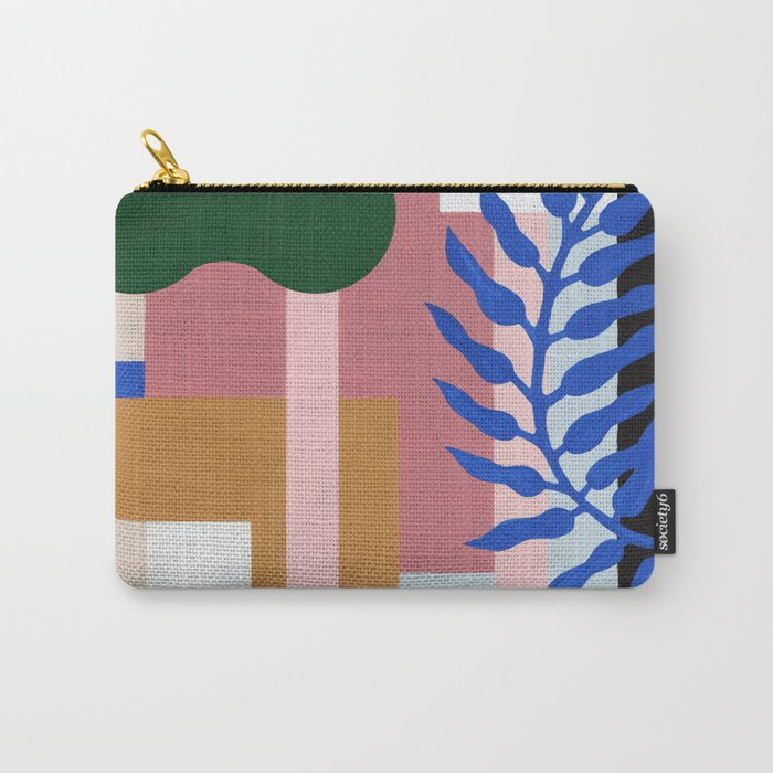 Leather Fern | Painting Carry-All Pouch