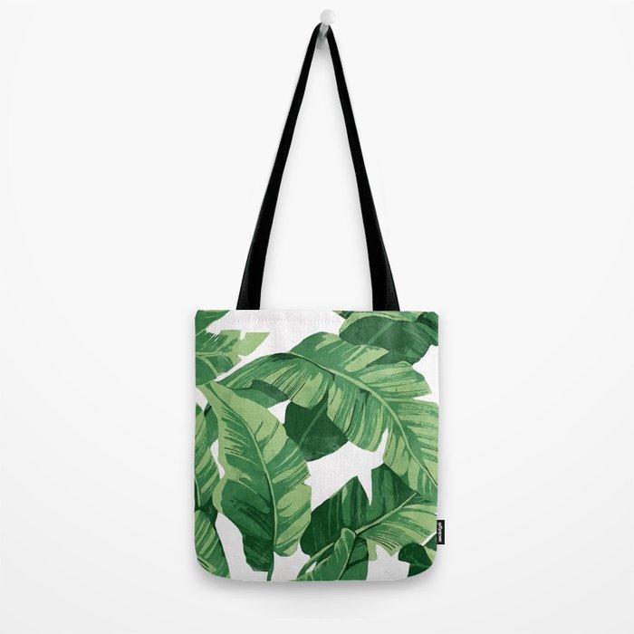Tropical banana leaves IV Tote Bag