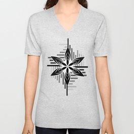 Black & White Unisex V-Neck