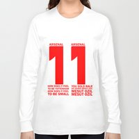 arsenal Long Sleeve T-shirts featuring Mesut Ozil Chant by Maxvtis