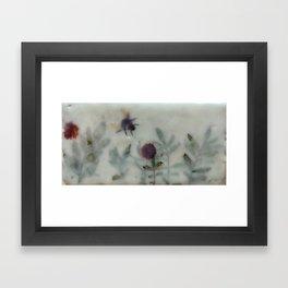 Bee in the Garden (encaustic) Framed Art Print