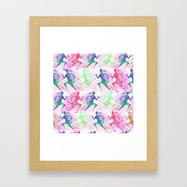 Watercolor women runner pattern Framed Art Print