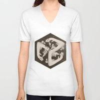 lady gaga V-neck T-shirts featuring BOX by Ali GULEC